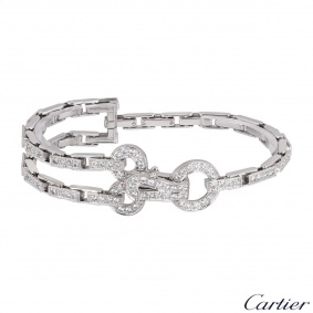 Cartier White Gold Diamond Agrafe Bracelet